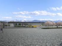 新幹線新駅 円形ロータリー
