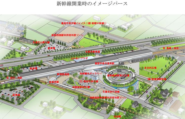 新駅周辺イメージ図