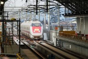 北陸新幹線試験列車歓迎式開催